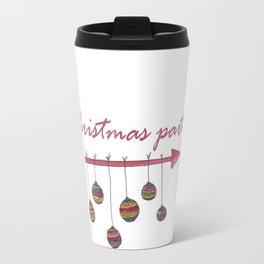 Christmas party sign Travel Mug
