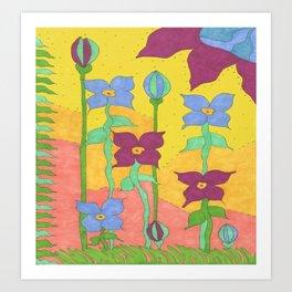 Sunshine Garden Bohemian Art Art Print