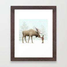 Winter Moose Framed Art Print