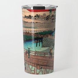 Vintage Woodblock - Ikkoku Bridge Japan Travel Mug