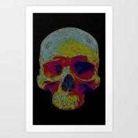 terminator Art Prints featuring Terminator by Rajasegar Chandiran