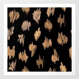 Strokes of brown paint Art Print