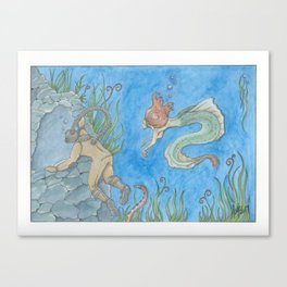 The Aquanat and The Water Nymph Canvas Print