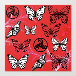 Butterfly Dreams in Red Canvas Print