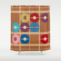 alchemy Shower Curtains featuring Cooper Alchemy by Ramon J Butler-Martinez