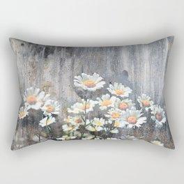 Daisies in Distress Rectangular Pillow