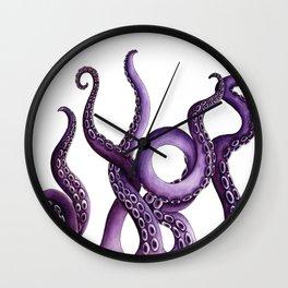 Kraken Purple Wall Clock
