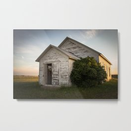 Galpin Church, Montana Prairie Metal Print