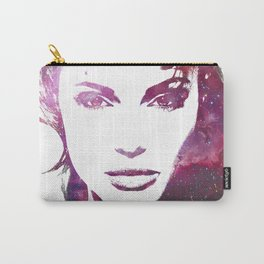 Jolie - Women of the Universe - Digital Art Poster Print of Angelina Jolie Carry-All Pouch