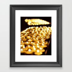 Prayer Candles in Church, Israel  Framed Art Print