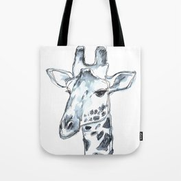 Giraffe, watercolor portrait Tote Bag