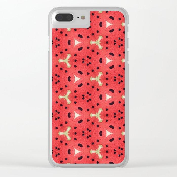 Gabriella Watermelon Slime Design Clear iPhone Case