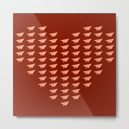 Pap Planes in Red Metal Print