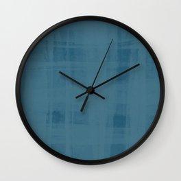 Flannel Layering in Steel Wool Wall Clock