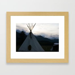 Teepee Campout Framed Art Print