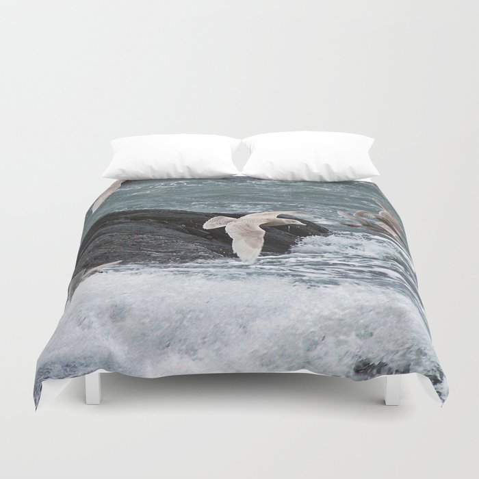 Gulls shop for Dinner Duvet Cover