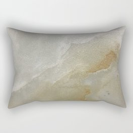Soft Gold and Creamy Marble Pattern Rectangular Pillow