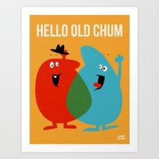 Hello Old Chum | Illustration of Friendship Art Print
