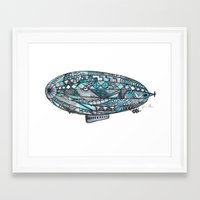 led zeppelin Framed Art Prints featuring zeppelin by tinkatinkadrawings