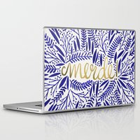 french Laptop & iPad Skins featuring Pardon My French  by Cat Coquillette