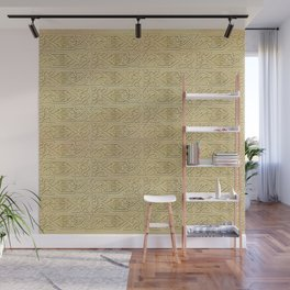 Golden Celtic Pattern on canvas texture Wall Mural