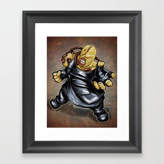 Nemesis: Resident Evil Framed Art Print