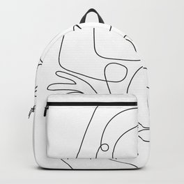 Line Faces 03 Backpack