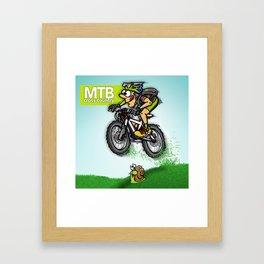 MTB cross country Framed Art Print