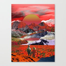 Journey to the red sunset Canvas Print