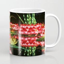 Chinese flower lantern pond at night Coffee Mug