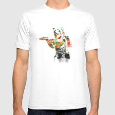 Boba Fett Print White MEDIUM Mens Fitted Tee