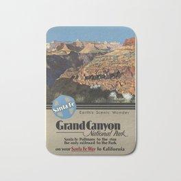 Grand Canyon Ntal Park - Vintage Poster Bath Mat