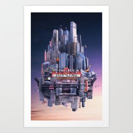 I Drove to Chicago Art Print