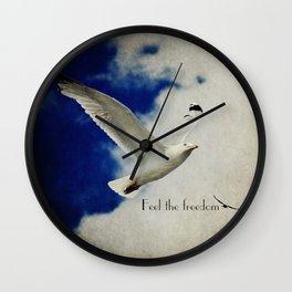Feel the freedom Wall Clock