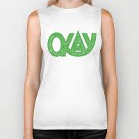 okay Biker Tanks featuring OKAY by Josh LaFayette