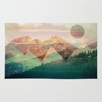 switzerland Area & Throw Rugs featuring Egypt and Switzerland II by Moira Parton