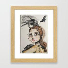 Raven series. Framed Art Print