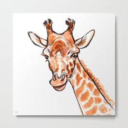 Cami the Giraffe  Metal Print