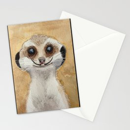Meerkat 'Stache Stationery Cards