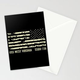 USS West Virginia Stationery Cards