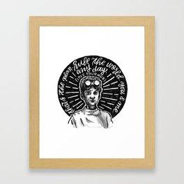 PhD In Horribleness Framed Art Print
