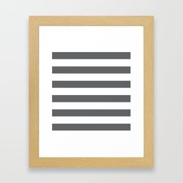 Simply Striped in Storm Gray and White Framed Art Print