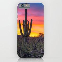 Land of Giants - Saguaro Cactus at Sunrise in the Sonoran Desert iPhone Case