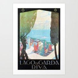 1920 Riva Del Garda Art Print