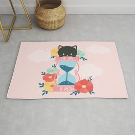 The time is meow Rug