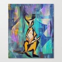 kangaroo Canvas Prints featuring KANGAROO by Matt Schiermeier