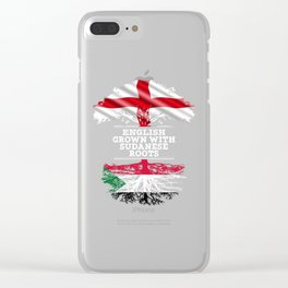 English Grown With Sudanese Roots Clear iPhone Case