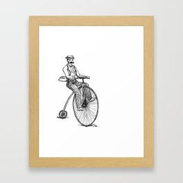 Velocipede Bicyle Framed Art Print