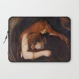 Vampire by Edvard Munch Laptop Sleeve