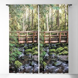 Wanderlust Beauty // Take Me to the Forest Where the Peaceful Waters Flow in the Dense Woods Blackout Curtain